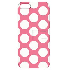Pink Polkadot Apple Iphone 5 Hardshell Case With Stand