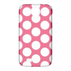 Pink Polkadot Samsung Galaxy S4 Classic Hardshell Case (PC+Silicone)