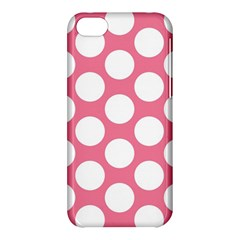 Pink Polkadot Apple iPhone 5C Hardshell Case