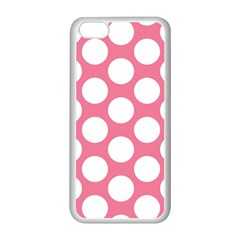 Pink Polkadot Apple Iphone 5c Seamless Case (white)