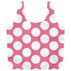 Pink Polkadot Reusable Bag (XL)