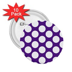 Purple Polkadot 2 25  Button (10 Pack)