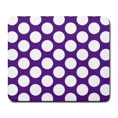 Purple Polkadot Large Mouse Pad (rectangle)