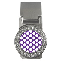 Purple Polkadot Money Clip (cz)