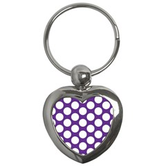 Purple Polkadot Key Chain (Heart)