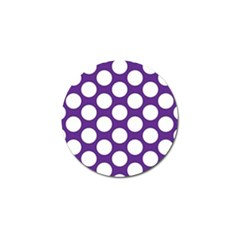 Purple Polkadot Golf Ball Marker