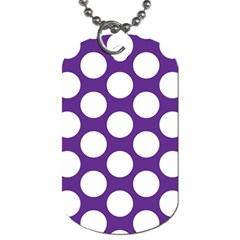 Purple Polkadot Dog Tag (Two-sided)