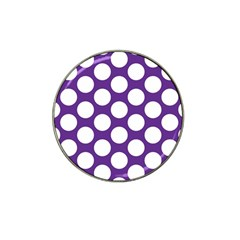 Purple Polkadot Golf Ball Marker 4 Pack (for Hat Clip)