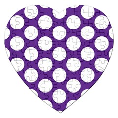 Purple Polkadot Jigsaw Puzzle (heart)