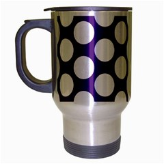 Purple Polkadot Travel Mug (Silver Gray)