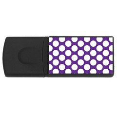 Purple Polkadot 4GB USB Flash Drive (Rectangle)