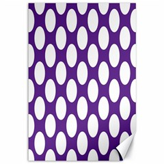 Purple Polkadot Canvas 12  x 18  (Unframed)