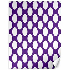 Purple Polkadot Canvas 18  x 24  (Unframed)