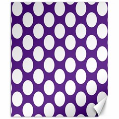 Purple Polkadot Canvas 20  x 24  (Unframed)