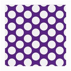 Purple Polkadot Glasses Cloth (medium, Two Sided)