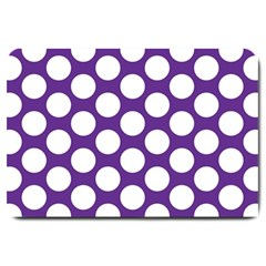Purple Polkadot Large Door Mat