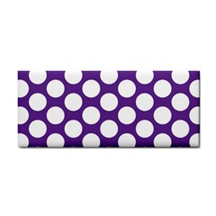 Purple Polkadot Hand Towel
