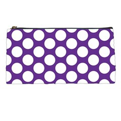 Purple Polkadot Pencil Case