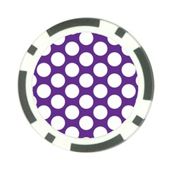 Purple Polkadot Poker Chip (10 Pack)