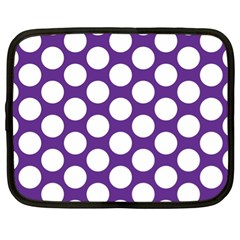 Purple Polkadot Netbook Sleeve (xl)