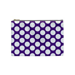 Purple Polkadot Cosmetic Bag (medium)