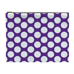 Purple Polkadot Cosmetic Bag (XL)