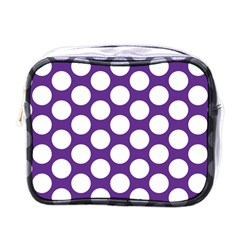 Purple Polkadot Mini Travel Toiletry Bag (One Side)