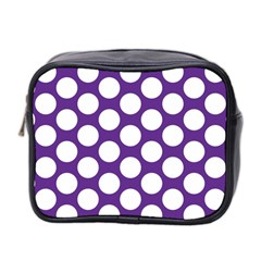 Purple Polkadot Mini Travel Toiletry Bag (Two Sides)