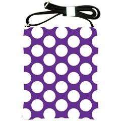 Purple Polkadot Shoulder Sling Bag