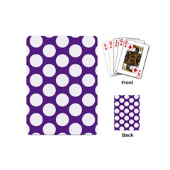 Purple Polkadot Playing Cards (Mini)