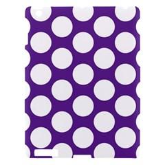 Purple Polkadot Apple iPad 3/4 Hardshell Case
