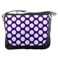 Purple Polkadot Messenger Bag