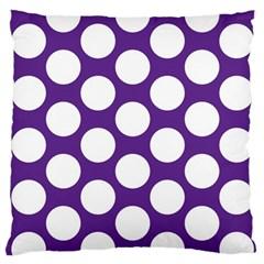 Purple Polkadot Large Cushion Case (single Sided)