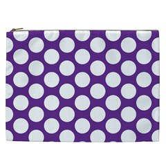 Purple Polkadot Cosmetic Bag (XXL)