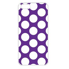Purple Polkadot Apple Iphone 5 Seamless Case (white)
