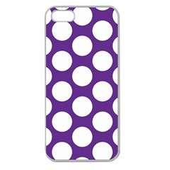 Purple Polkadot Apple Seamless Iphone 5 Case (clear)