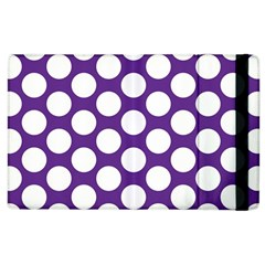 Purple Polkadot Apple Ipad 3/4 Flip Case