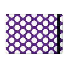 Purple Polkadot Apple iPad Mini Flip Case