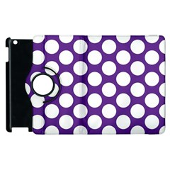 Purple Polkadot Apple Ipad 2 Flip 360 Case