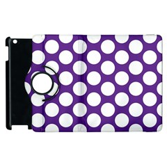 Purple Polkadot Apple iPad 3/4 Flip 360 Case