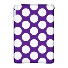 Purple Polkadot Apple iPad Mini Hardshell Case (Compatible with Smart Cover)