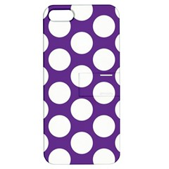 Purple Polkadot Apple Iphone 5 Hardshell Case With Stand