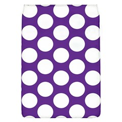 Purple Polkadot Removable Flap Cover (Large)