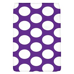 Purple Polkadot Removable Flap Cover (small)