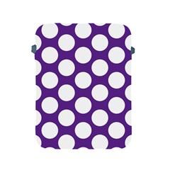 Purple Polkadot Apple Ipad Protective Sleeve