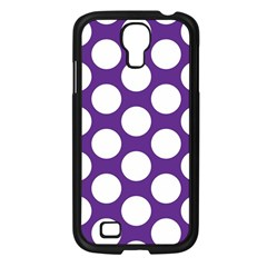 Purple Polkadot Samsung Galaxy S4 I9500/ I9505 Case (Black)