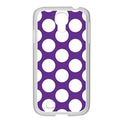 Purple Polkadot Samsung GALAXY S4 I9500/ I9505 Case (White)