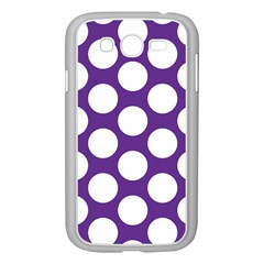 Purple Polkadot Samsung Galaxy Grand DUOS I9082 Case (White)