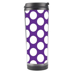 Purple Polkadot Travel Tumbler