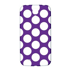 Purple Polkadot Samsung Galaxy S4 I9500/I9505  Hardshell Back Case